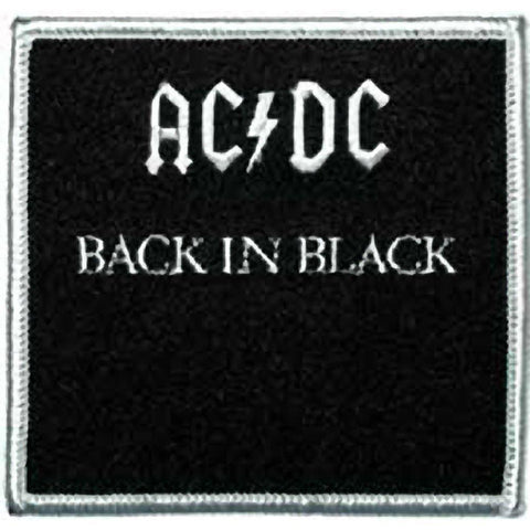 AC/DC Back In Black Embroidered Patch