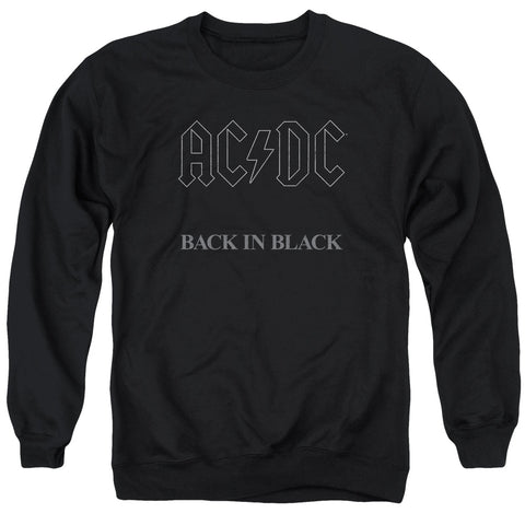 AC/DC Special Order Back In Black Men's Crewneck 50% Cotton 50% Poly Long-Sleeve Sweatshirt