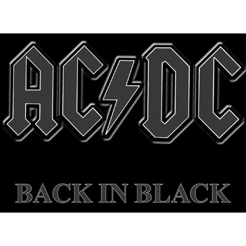 AC/DC Back In Black Woven Patch