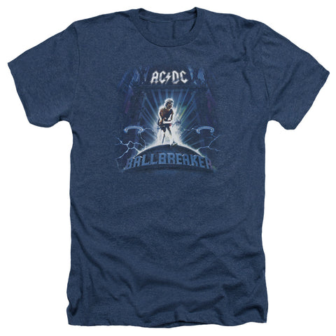 AC/DC Special Order Ballbreaker Men's 30/1 Heather 60% Cotton 40% Poly Short-Sleeve T-Shirt