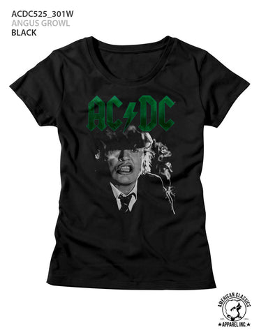 AC/DC Special Order Angus Growl Ladies S/S T-Shirt