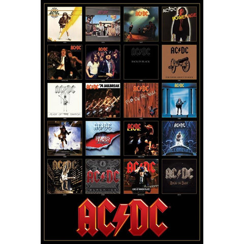 AC/DC Discography Wall Poster