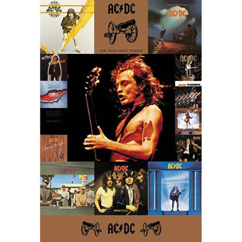 AC/DC Donington Discography Wall Poster
