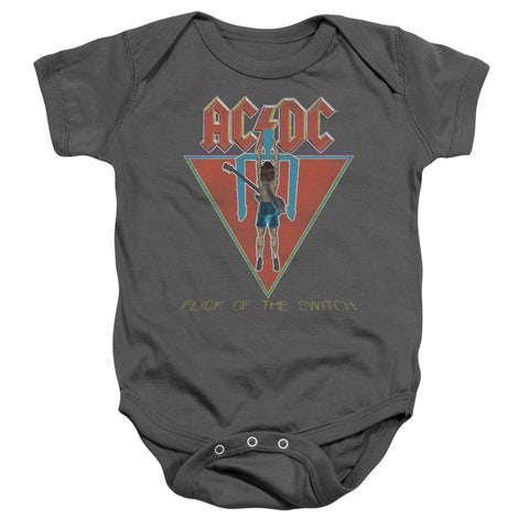 AC/DC Special Order Flick Of The Switch Infant's 100% Cotton Short-Sleeve Snapsuit