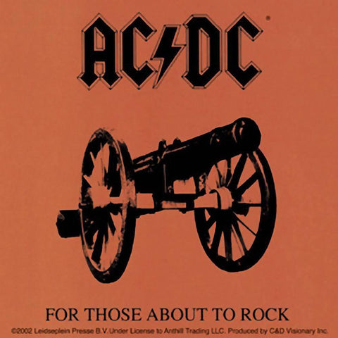 AC/DC For Those About To Rock Sticker
