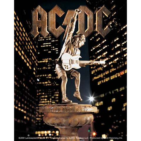 AC/DC Gold Metal Sticker