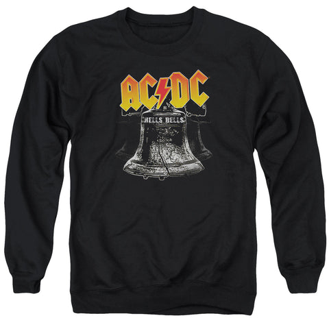 AC/DC Special Order Hell's Bells Men's Crewneck 50% Cotton 50% Poly Long-Sleeve Sweatshirt