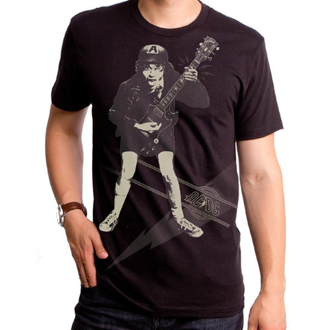 AC/DC High Voltage Angus Stencil Men's Premium Soft T-Shirt