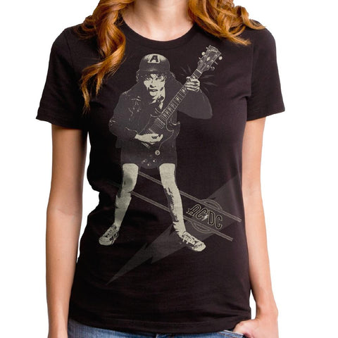 AC/DC High Voltage Angus Stencil Women's Premium Soft T-Shirt