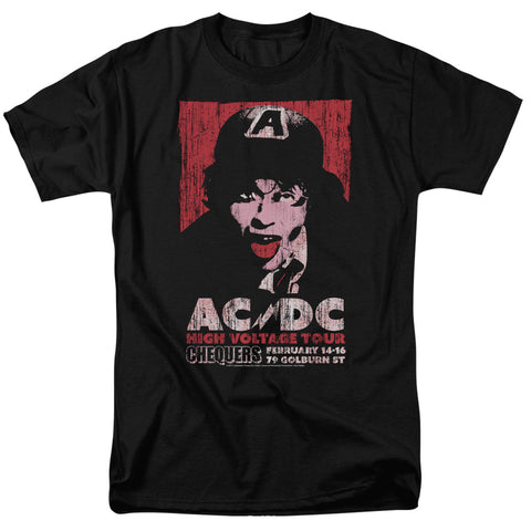 AC/DC Special Order High Voltage Live 1975 Men's 18/1 100% Cotton Short-Sleeve T-Shirt
