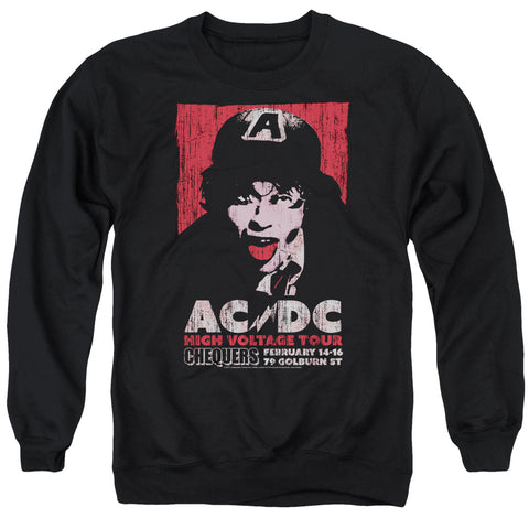 AC/DC Special Order High Voltage Live 1975 Men's Crewneck 50% Cotton 50% Poly Long-Sleeve Sweatshirt