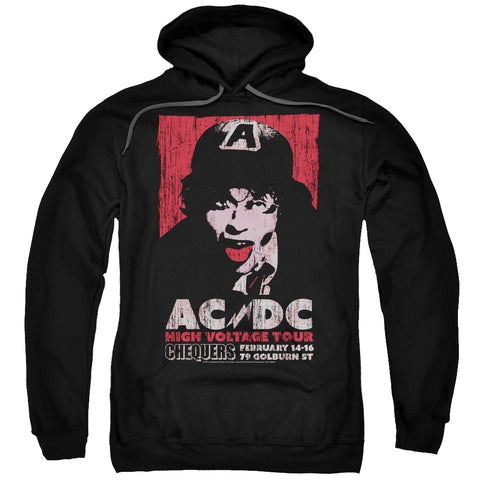 AC/DC Special Order High Voltage Live 1975 Men's Pull-Over 75% Cotton 25% Poly Hoodie