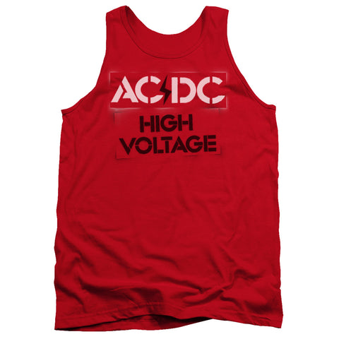 AC/DC Special Order High Voltage Stencil Men's 18/1 100% Cotton Tank Top