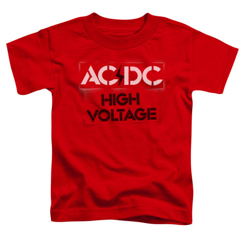 AC/DC Special Order High Voltage Stencil Toddler 18/1 100% Cotton Short-Sleeve T-Shirt