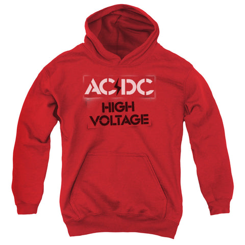 AC/DC Special Order High Voltage Stencil Youth 50% Cotton 50% Poly Pull-Over Hoodie