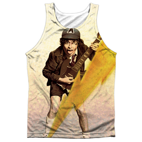 AC/DC Special Order Higher Voltage Men's Regular Fit 100% Polyester Tank Top