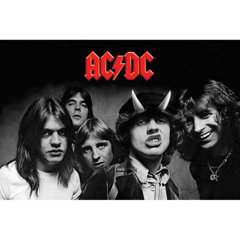 AC/DC Highway To Hell Black & White Poster