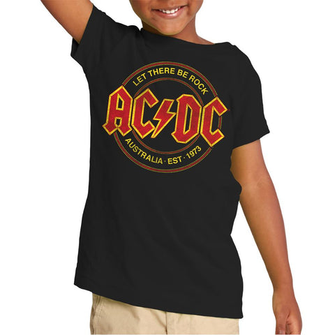 AC/DC Let There Be Rock AC/DC Badge Black S/S Toddler T-Shirt