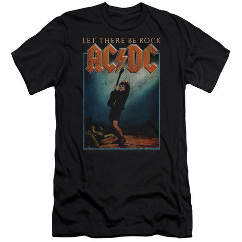 AC/DC Special Order Let There Be Rock Men's 30/1 100% Cotton Slim Fit Short-Sleeve T-Shirt