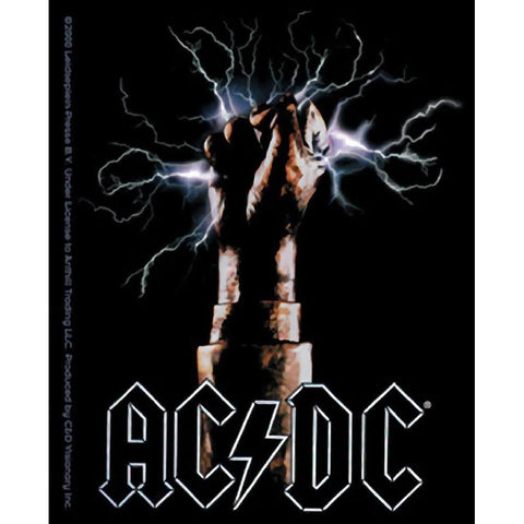 AC/DC Lightning Fist Sticker