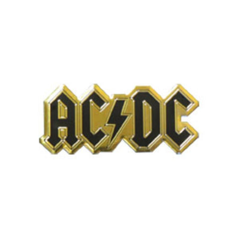 AC/DC Logo Gold Metal Sticker - Medium
