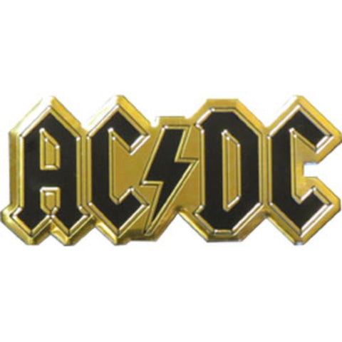 AC/DC Logo Gold Metal Sticker - Large