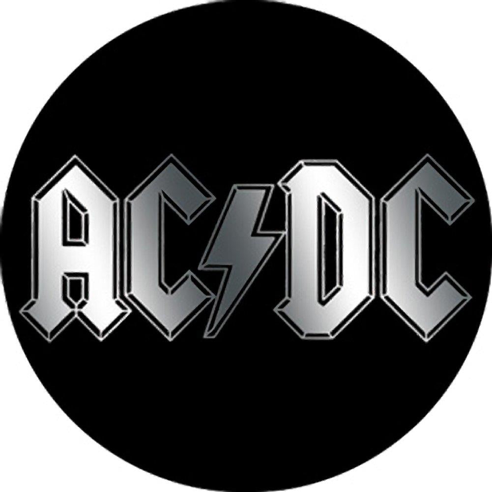 Ac Dc Logo Metallic Button Rockmerch