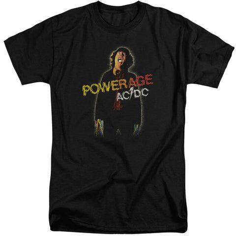 AC/DC Special Order Powerage Men's 18/1 Tall 100% Cotton Short-Sleeve T-Shirt