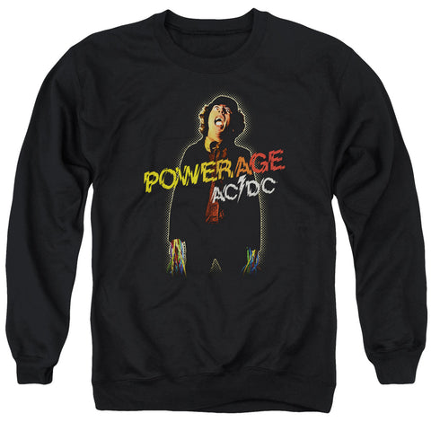 AC/DC Special Order Powerage Men's Crewneck 50% Cotton 50% Poly Long-Sleeve Sweatshirt