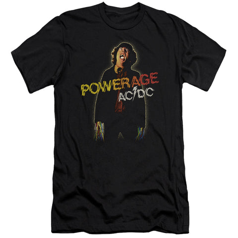AC/DC Special Order Powerage Men's Premium Ultra-Soft 30/1 100% Cotton Slim Fit T-Shirt - Eco-Friendly - Made In The USA