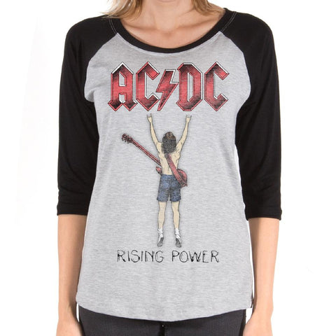 AC/DC Rising Power Fingers Women's Premium Soft T-Shirt