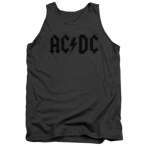 AC/DC Special Order Worn Logo Men's 18/1 100% Cotton Tank Top
