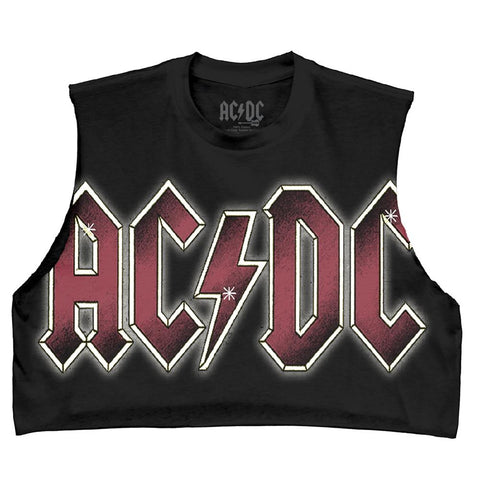AC/DC Color Glow Juniors DIY Tank Black T-Shirt