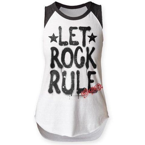 Aerosmith Let Rock Rule Women's Sleeveless Raglan T-Shirt