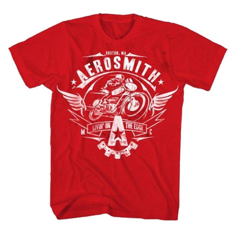 Aerosmith Livin On The Edge Men's Tee