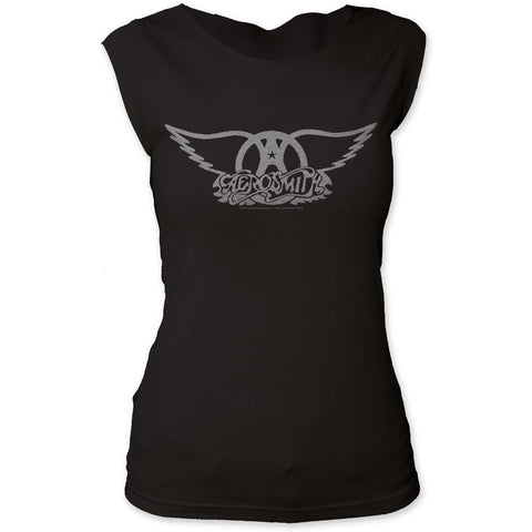 Aerosmith Logo Women's Tapered T-Shirt