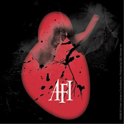 AFI Shattered Heart Logo Sticker