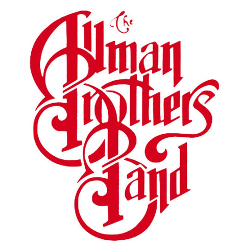 Allman Bros. Logo Rub-on Sticker - Red