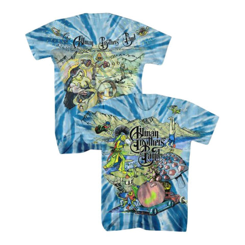 Allman Brothers Collage Tour 1996 Tie Dye Men's T-Shirt