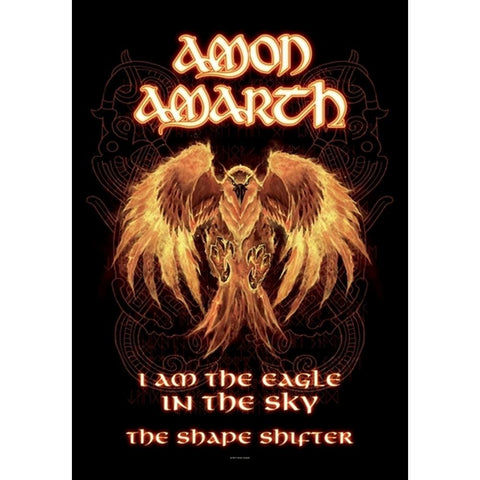 Amon Amarth Burning Eagle Fabric Poster