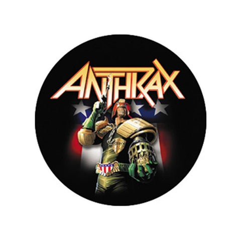 Anthrax Dredd Button