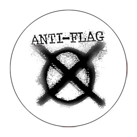Anti-Flag Logo White Button