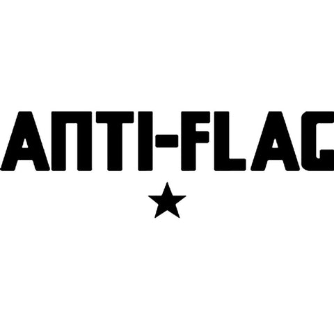 Anti-Flag Logo Rub-On Sticker - Black