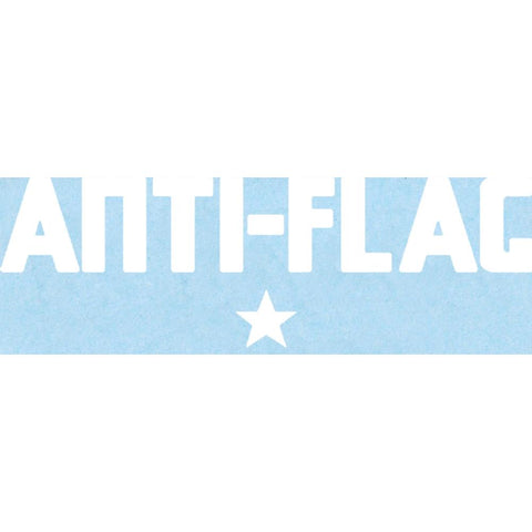 Anti-Flag Logo Rub-On Sticker - White