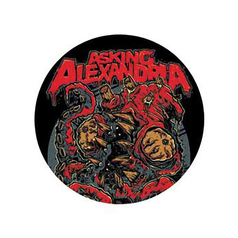 Asking Alexandria Kraken Button