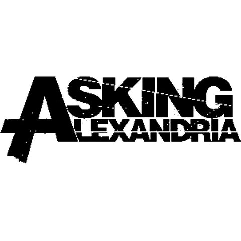 Asking Alexandria Logo Rub On Sticker - Black
