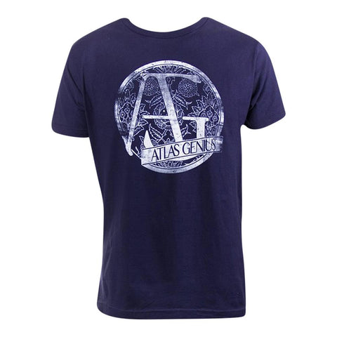 Atlas Genius Navy Slim Fit Men's T-Shirt