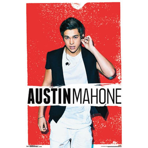 Austin Mahone Red Wall Poster