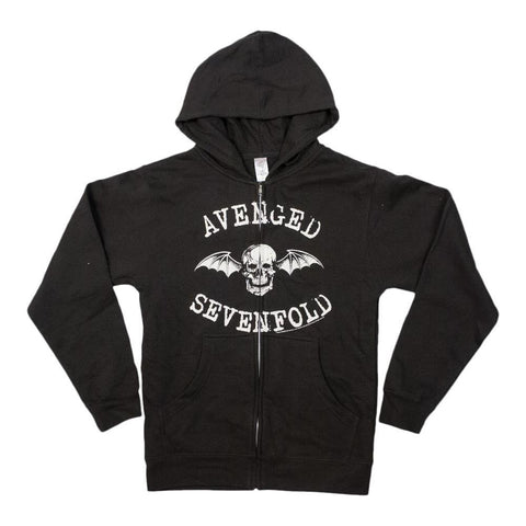Avenged Sevenfold Death Bat Mens Zip Hoodie