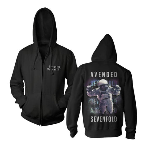 Avenged Sevenfold Logo Space Men's Zip Hoodie
